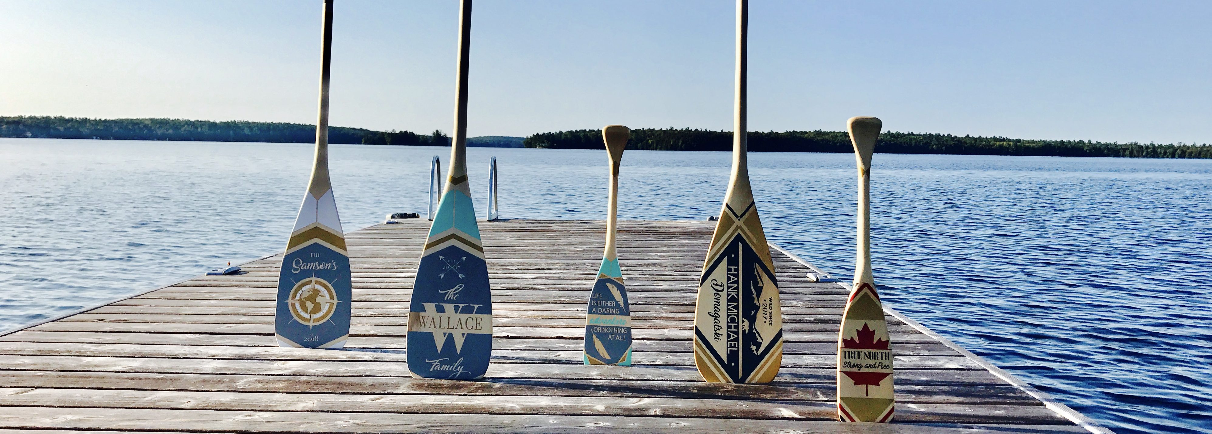 painted canoe paddles personalized wall decor ontario canada